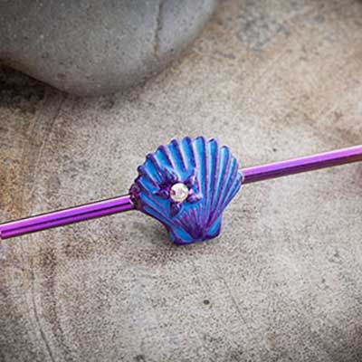 Color-Coated Seashell Industrial Barbell