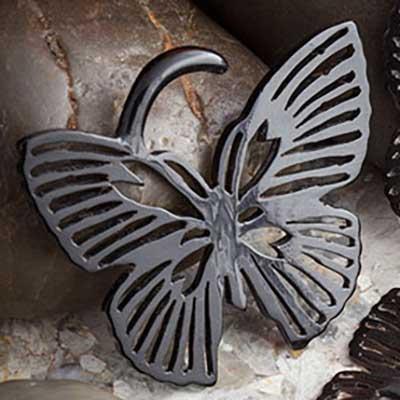 Black Horn Butterfly Design