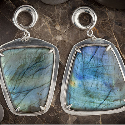 Sterling Silver and Labradorite Weights