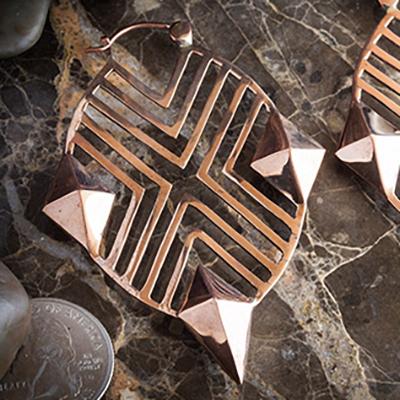 Solid copper XO hoops