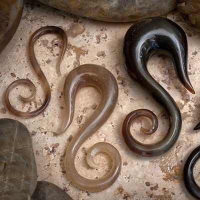 Blemished golden horn swan spirals