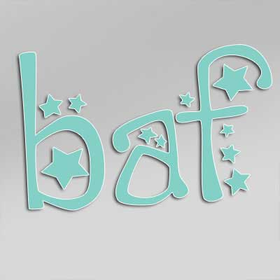 BAF text with stars vinyl decal sticker