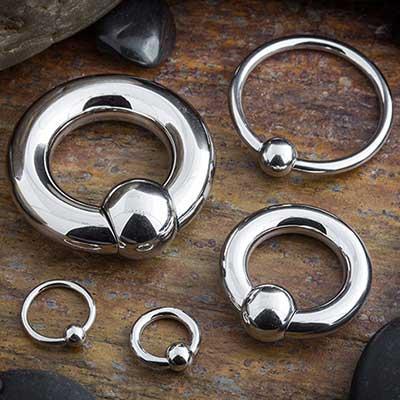 Steel captive bead ring