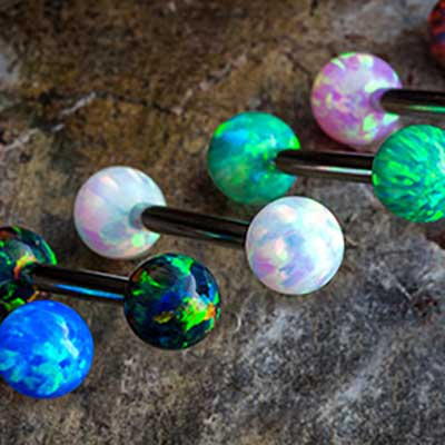 Faux-Opal Barbell