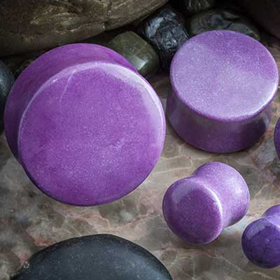Synthetic Sugalite Stone Plugs