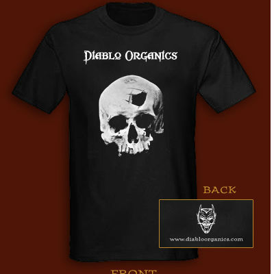 Diablo Organics T-Shirt (Black with Skull)