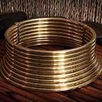 Brass Karen Coil Necklace