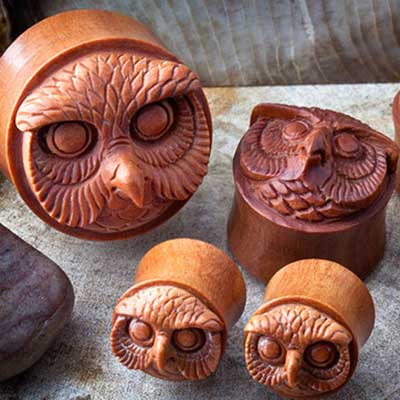 Sabo Wood Mr. Owl Plugs