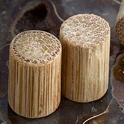 Bamboo solid node plugs