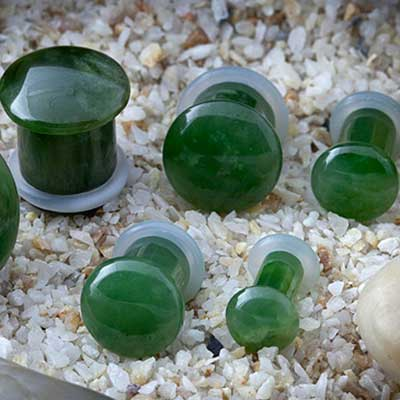 Single Flare Stone and Glass Plugs