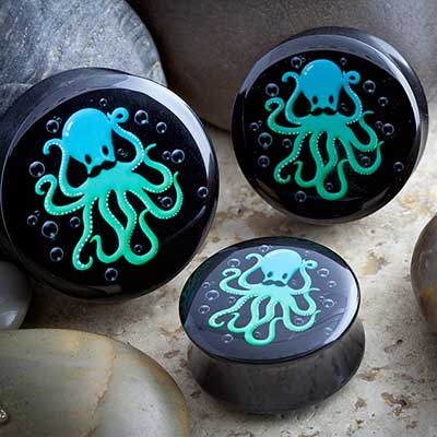 Double Flare Octopus with Mustache Plug