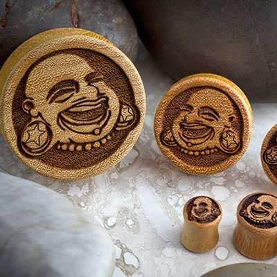 Wood Bodyartforms Logo Plugs