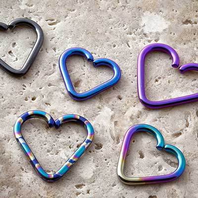 Niobium Heart Shaped Seamless Ring