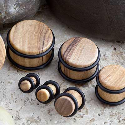 No flare olivewood plug