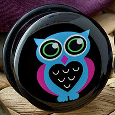 Single Flare Blue Owl Plug