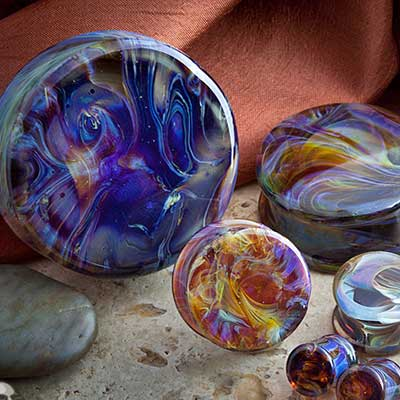 Double Flare Borostone Plugs