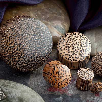 Coconut wood plugs