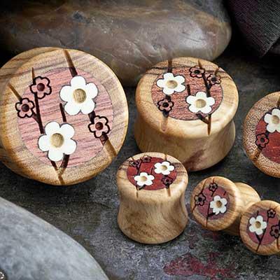 Olivewood Cherry Blossom Plugs