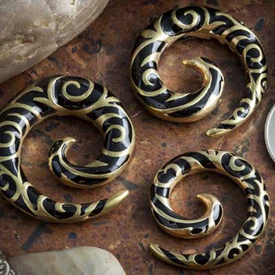 Solid Brass Swirl Spiral