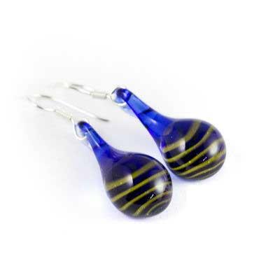 PRE-ORDER Tiger Glass Teardrop Earrings