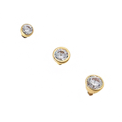 PRE-ORDER 14k bezel set threaded end