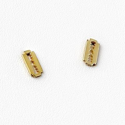 14K Gold Razor Blade Threadless End
