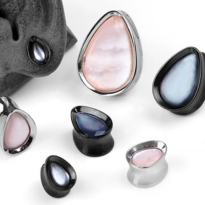 Solid Steel and Shell Teardrop Plugs