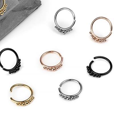 Steel Beaded Seamless Ring