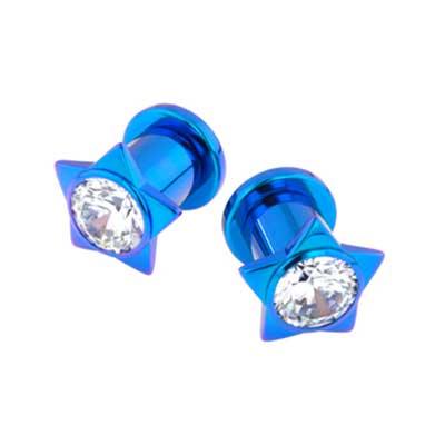 PRE-ORDER Titanium Gem Star Plug
