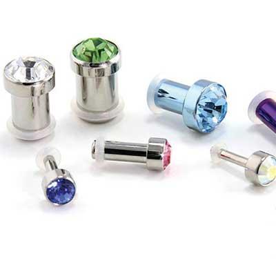 PRE-ORDER Titanium Faceted Gem Plug