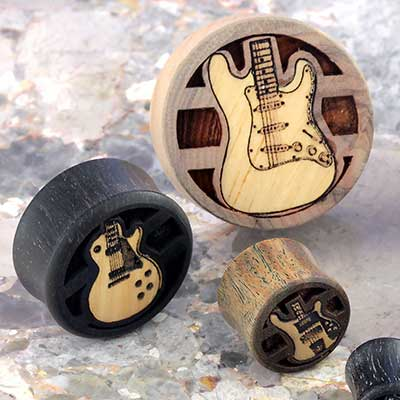 Wood Guitar Plugs
