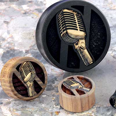 Wood Microphone Plugs