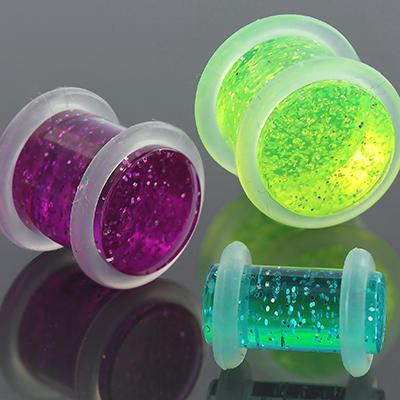 Acrylic No Flare Glitter Plug