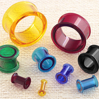 Colored Glass Double Flare Eyelets