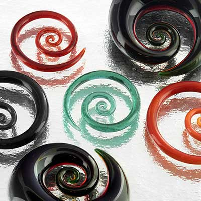 Pyrex Glass Mini Spirals