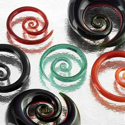 Pyrex glass mini spirals