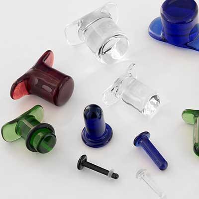 Pyrex Glass Labret