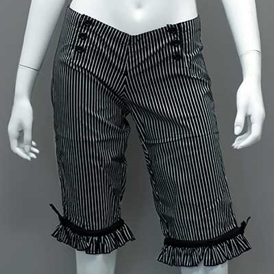 Long black/white striped bloomers