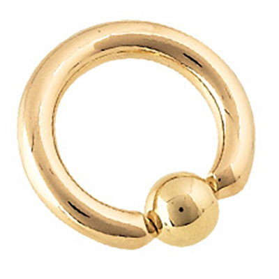 PRE-ORDER 14k Yellow Gold Captive Bead Ring