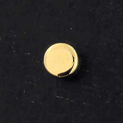 14k Gold Threadless Disc End