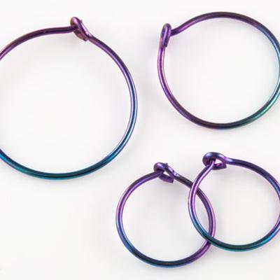 Niobium Hoop Earring