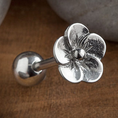 Steel Flower Barbell