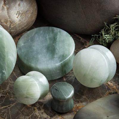 Green jasper stone plugs
