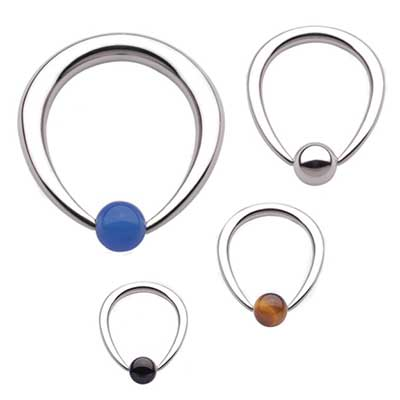 PRE-ORDER Steel Tapered Oval Ring