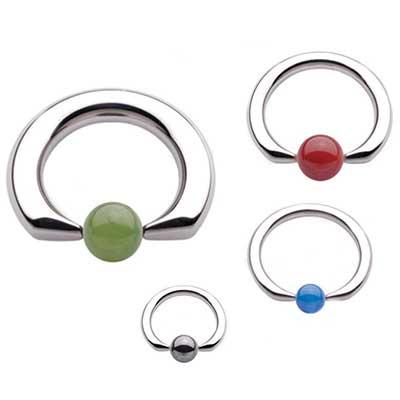 PRE-ORDER Steel flat tip ring