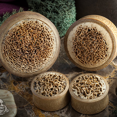 Bamboo Plugs with Oosik Inlays