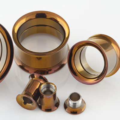 Titanium plated internally threaded eyelet (Bronze)