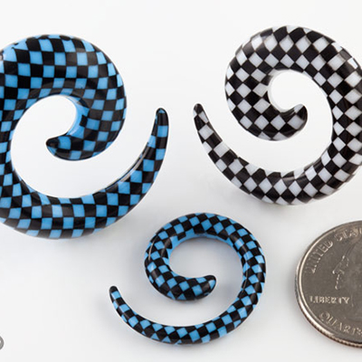Checkerboard Print Spiral