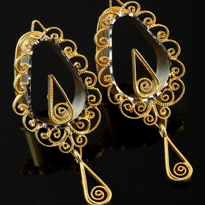 14k Gold Plated From the Heart Teardrop Eyelets