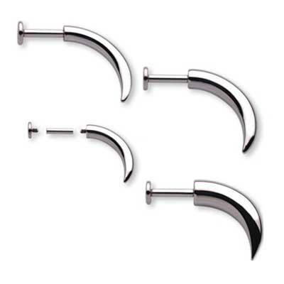 PRE-ORDER Steel Large Gauge Labret Claw